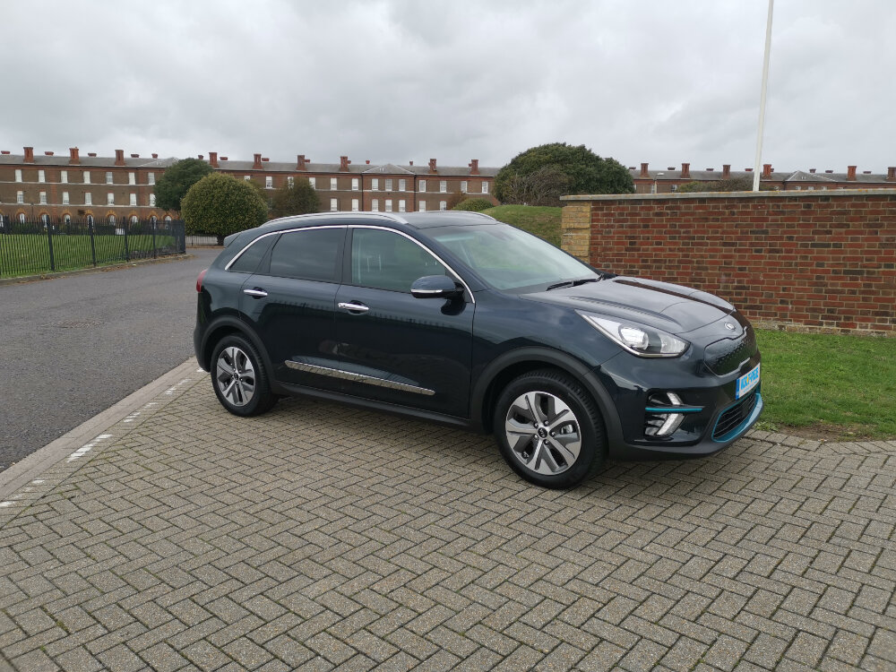 KIA E-NIRO - The newest addition to the Volt-Age fleet, the WhatCar 2019 Car of The Year winning Kia E-Niro. Completely sold out well into 2020, the E-Niro may share it's battery technology with the Hyundai Kona, but it's a completely different animal. Available to rent now at Volt-Age