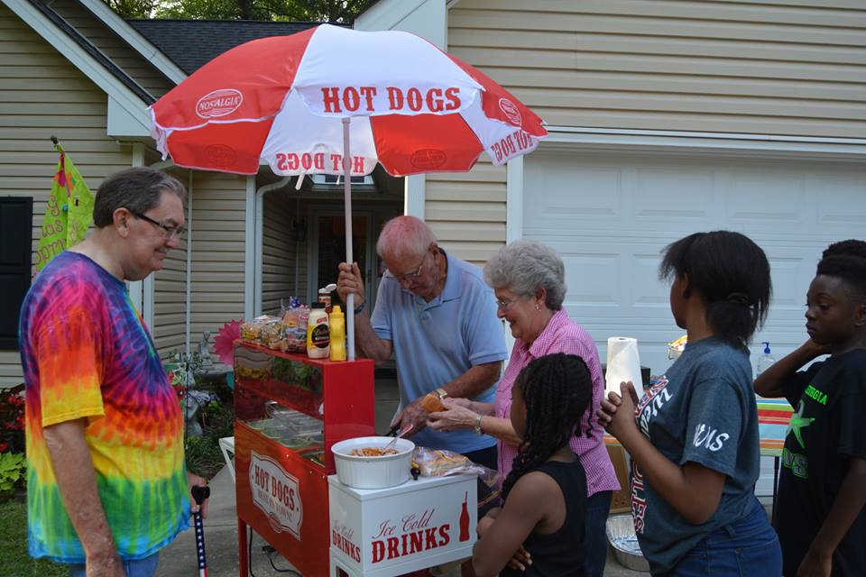 "The ""Hot Dog Club"" in action!"