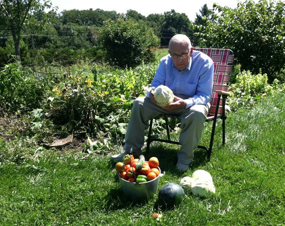 His final harvest just days before entering assisted living in 2016.