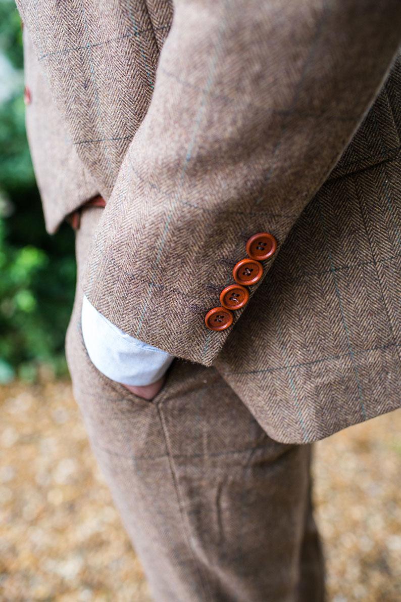 brown vintage suit
