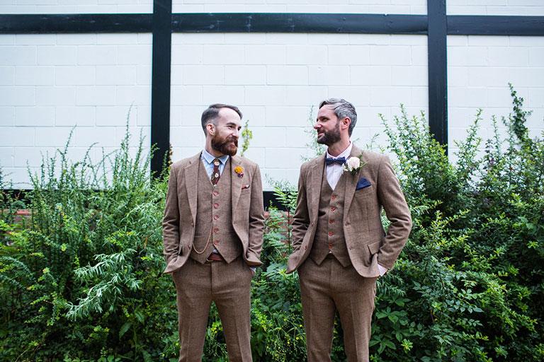 wool wedding suits brown
