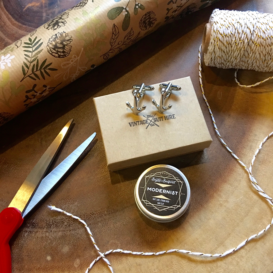 Vintage Suit Hire Co Cufflinks & Boyds Of Bedford Hair Cream 15ml (£8)
