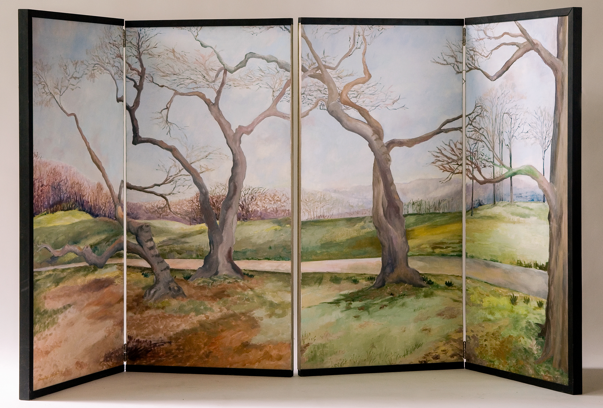 """Last Day Before Spring  oil on canvas 72 x 36"""""""