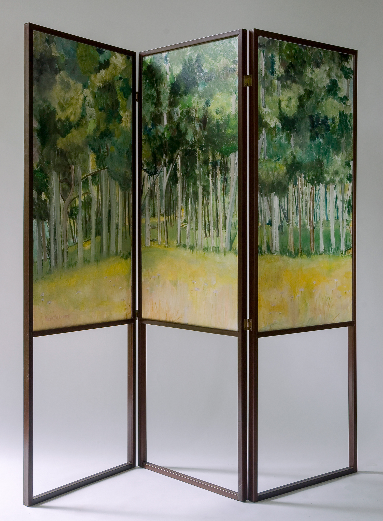 """Two Walks to the Same Place  (alternate view) oil/paper/wood 36 x 72"""""""