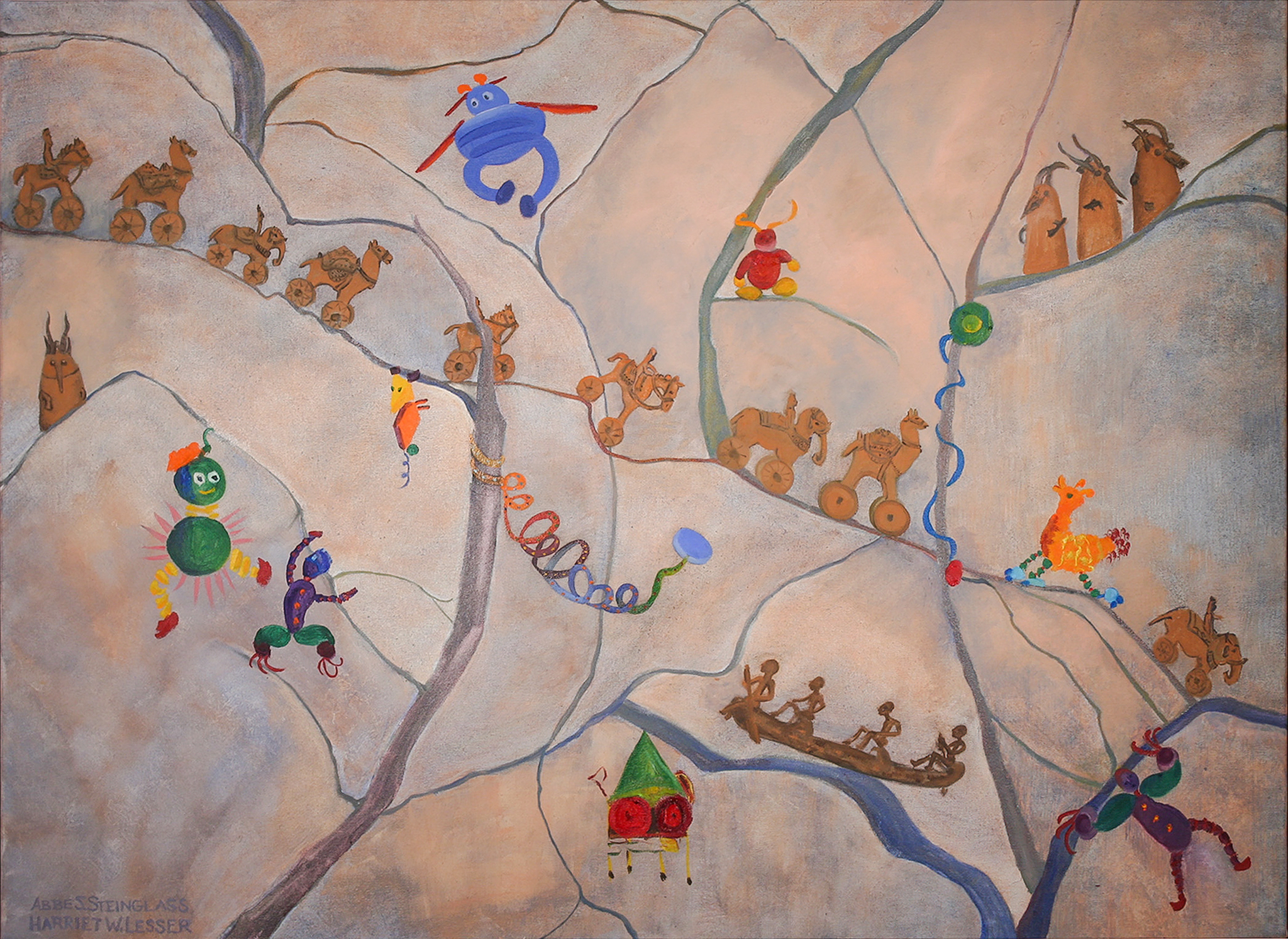 """Our Toys  oil on canvas 36 x 48"""""""