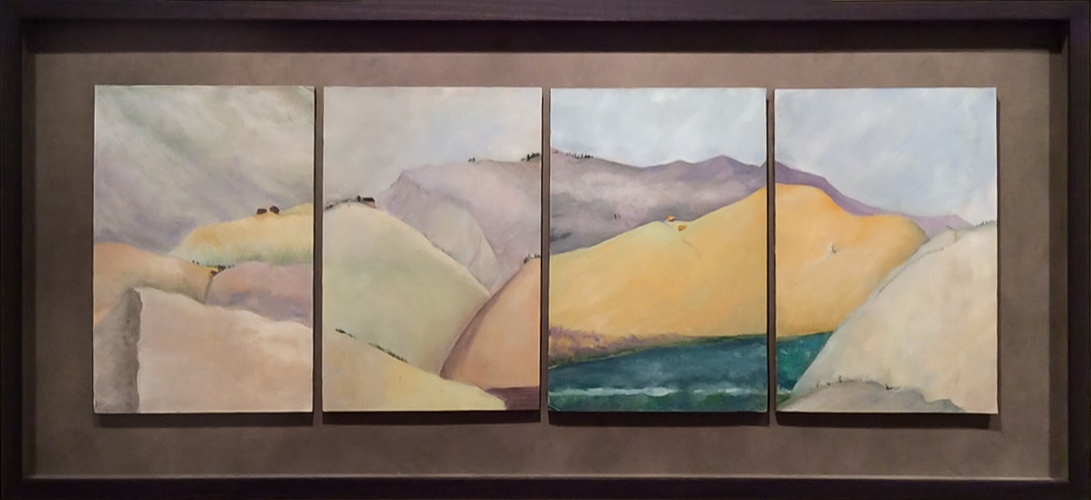 Taking the Long View  (center panels of multi-panel triptych)
