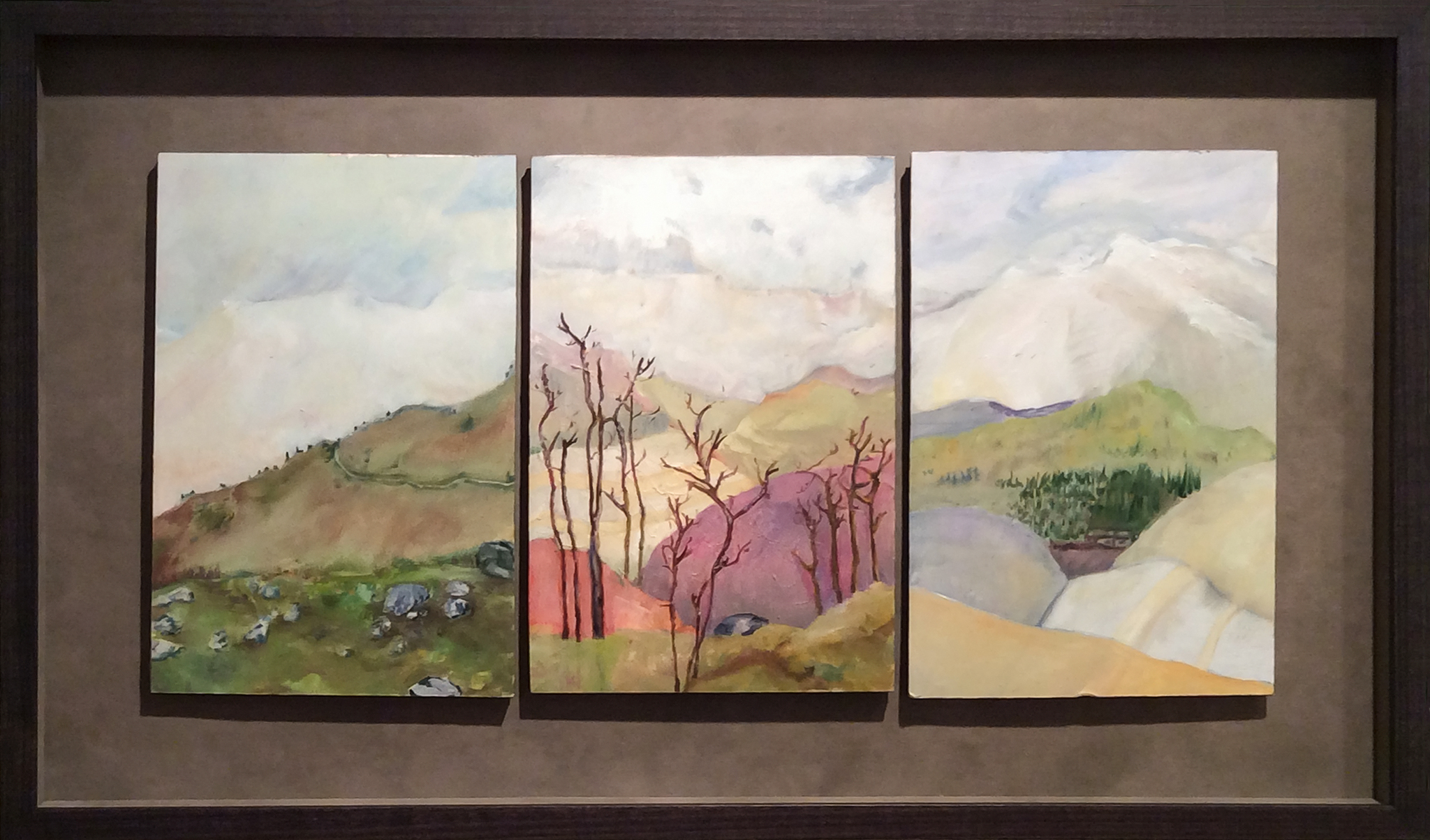 Taking the Long View  (left panels of multi-panel triptych)