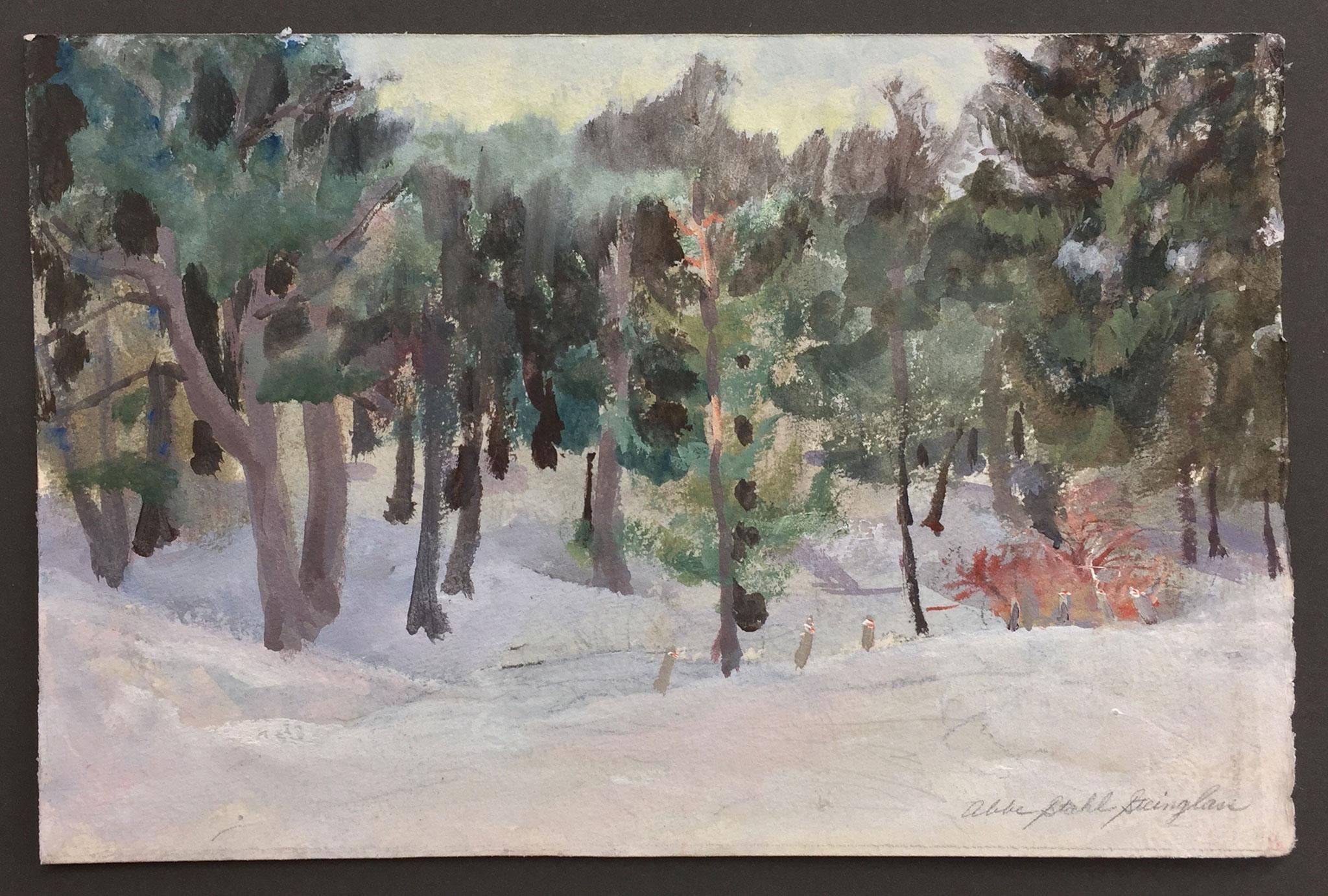 Snow, studio view