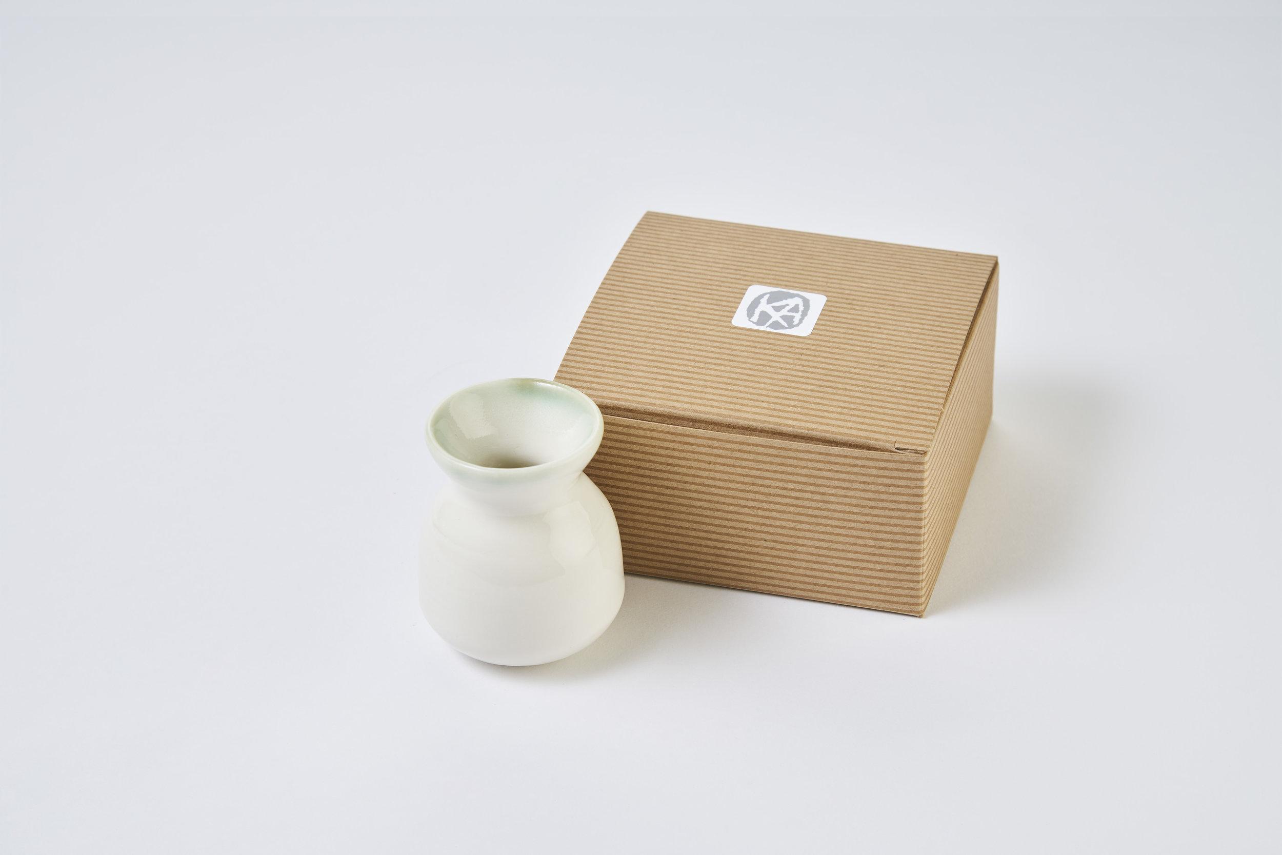 KA Ceramics copper green rim posy vase. Matthew Booth Photography.jpg
