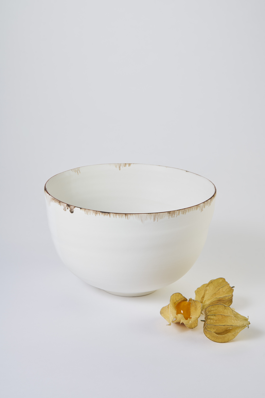 KA Ceramics Porcelain dolomite and tin, oxide and bronze lustre rim bowl 17.5cm x 11cm. Matthew Booth photography .jpg