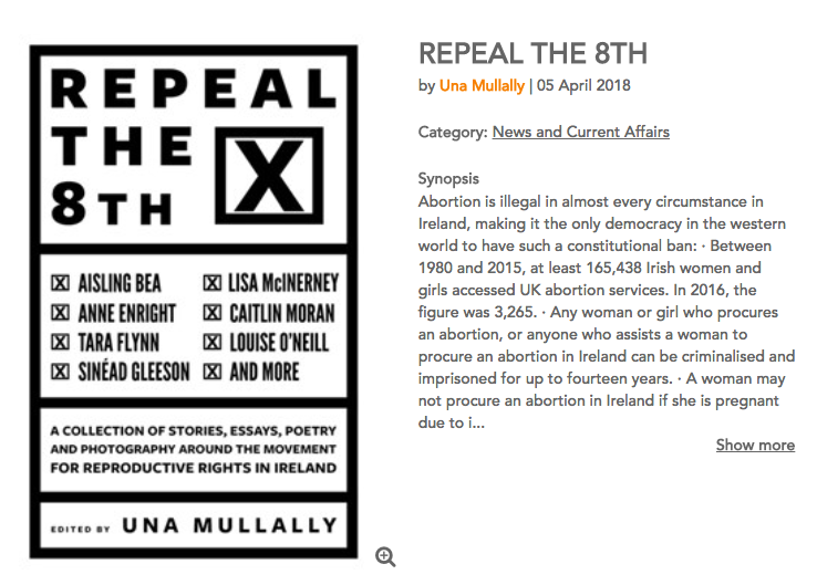 PRE-ORDER Una's Anthology, Repeal The 8th by clicking above.  -