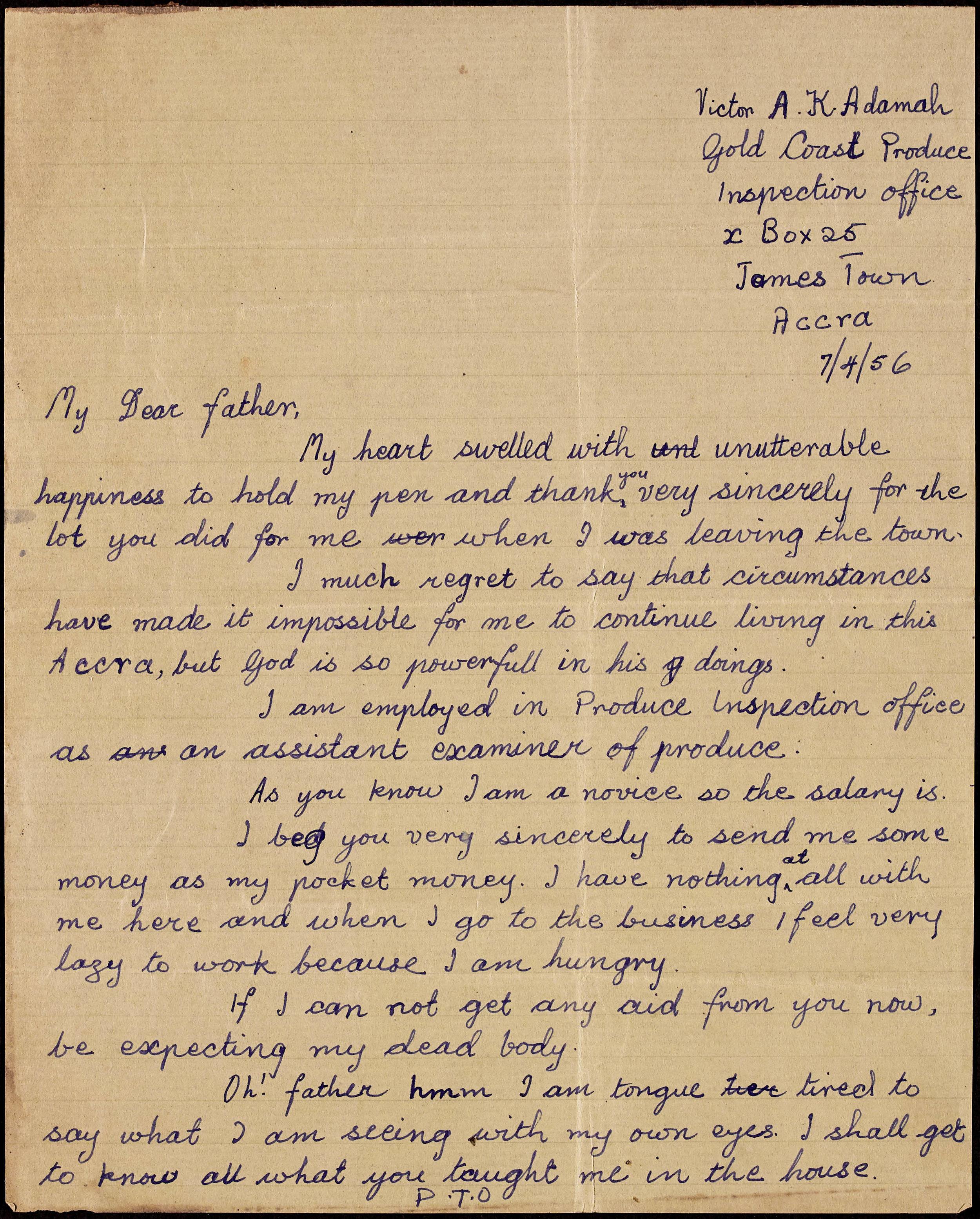 Letter to Togbui Adamah