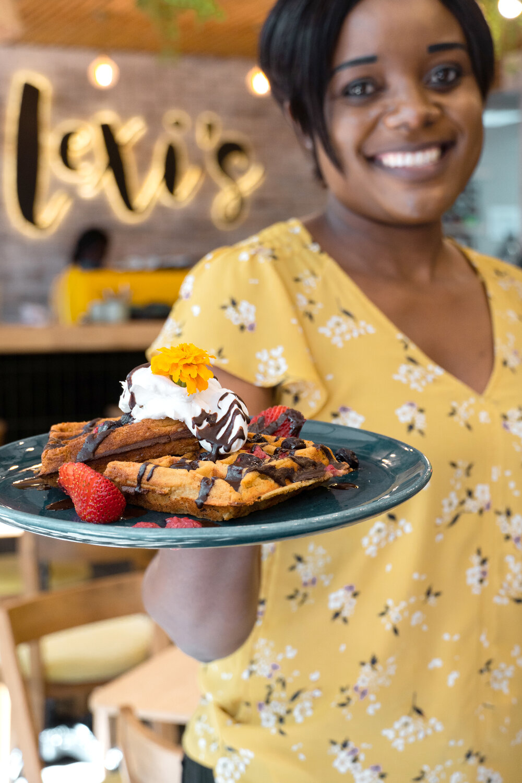 Charmaine Moyo, waitress at Lexi's Healthy Eatery