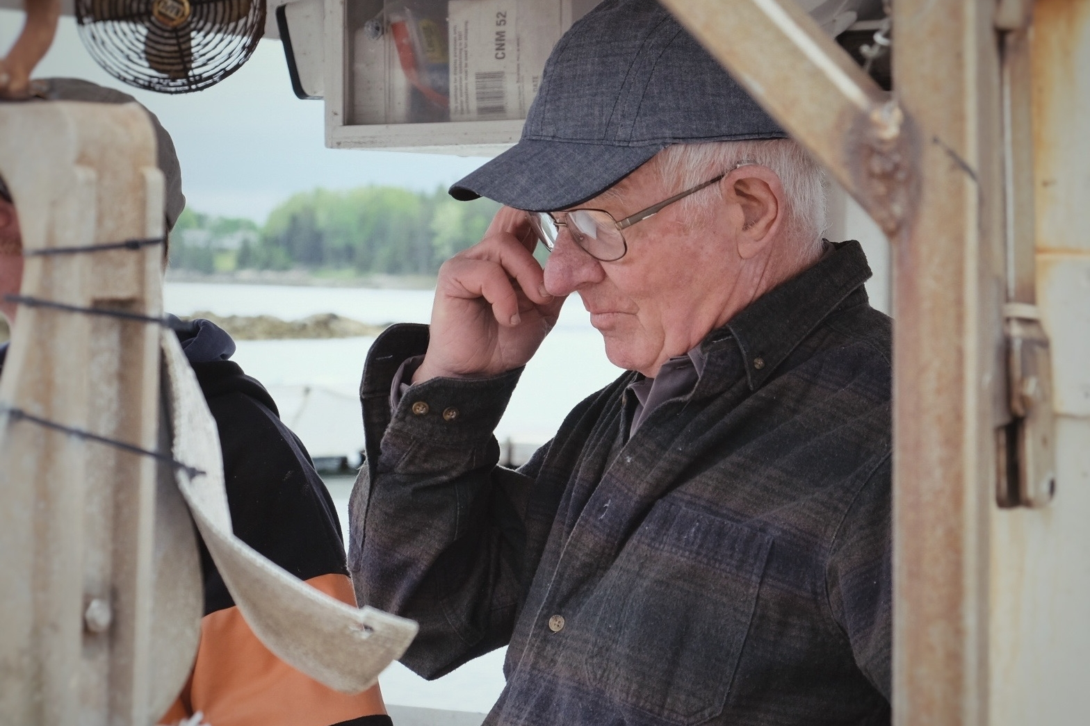 Chummy Rich - [Cliff Rich] is a fifth generation boat builder from Bernard, Maine.  He is making his acting debut as his own grandfather, as well as restoring the dory Cliff built for Art & Nan Kellam in 1949.