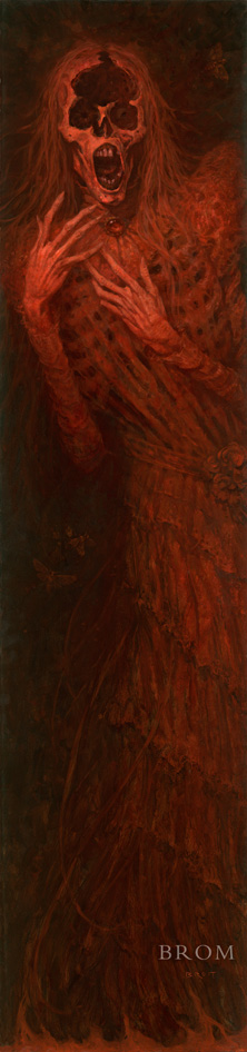 RED GHOST  2016  oil on wood panel  SOLD