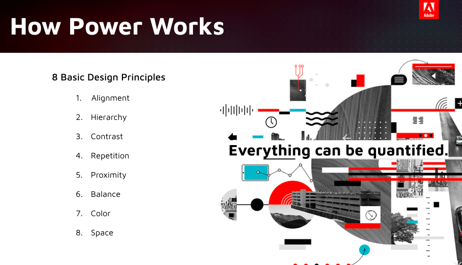 By using Adobe's AI Machine Learning - We can quantify the 8 main design principles.