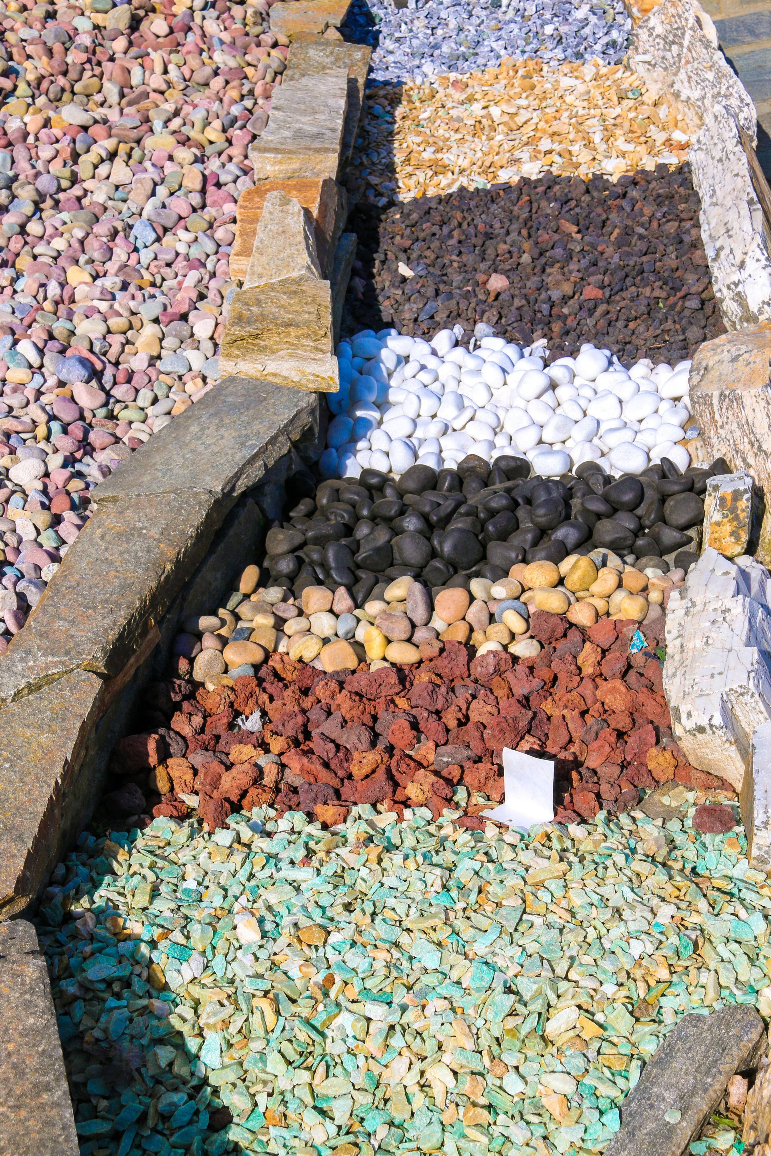 Turquoise Stone Hillside Stone and Garden