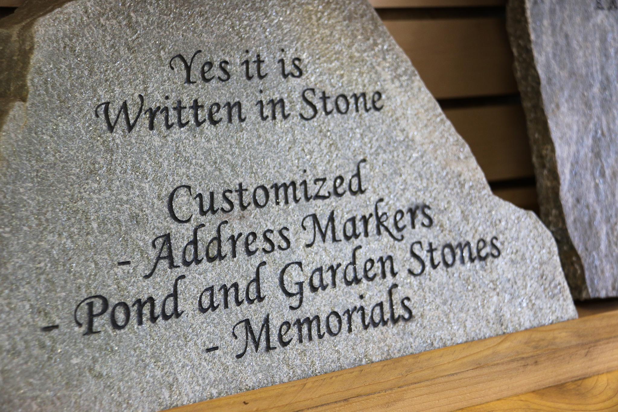 Rock Inscription Sandblasting Vancouver Island