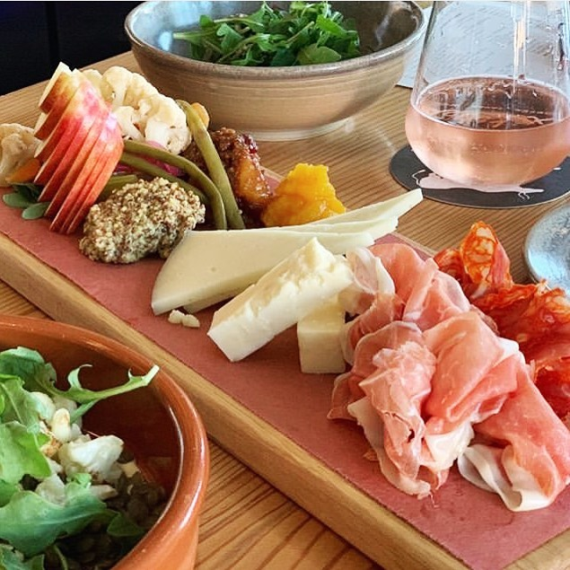 """Kind words and pretty photo from @highzoot : """"Best warm weather nosh in the 208 is at @txikiteoboise Ordered up the half combo meat and cheese tray, lentil salad with seared cauliflower, and roasted beets. Couldn't stop making """"this is really good"""" noises. Paired with a glass of the Txakoli rose."""" Thanks Dave for the visit! Always good to see you.  #rose #Txakoli #txikiteoboise#cheeseplate #beets #lentils #charcuterieboard #foodphoto#instafood #foodinsta #boisefood #boise #idahome #downtownboise #boise #travelmore #eatwell #eatrealfood #yum #hungry #eatup #idaho #onlyinidaho #oneofakind #instagood  #ihadcharcuterietoday"""
