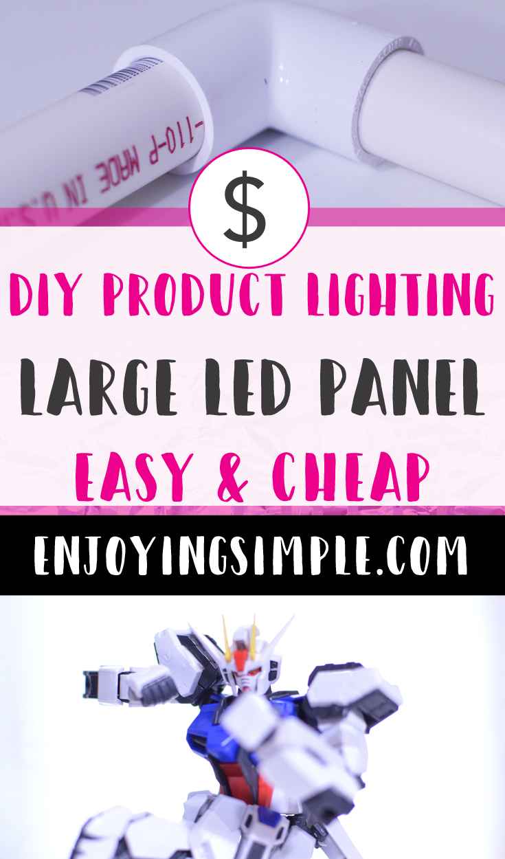 DIY LIGHT PANEL FOR PRODUCT PHOTOGRAPHY