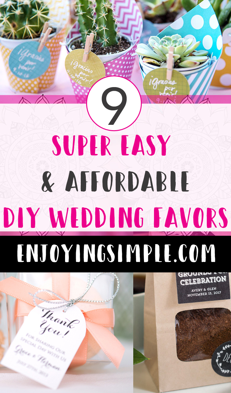 CUTE AND AFFORDABLE DIY WEDDING FAVORS