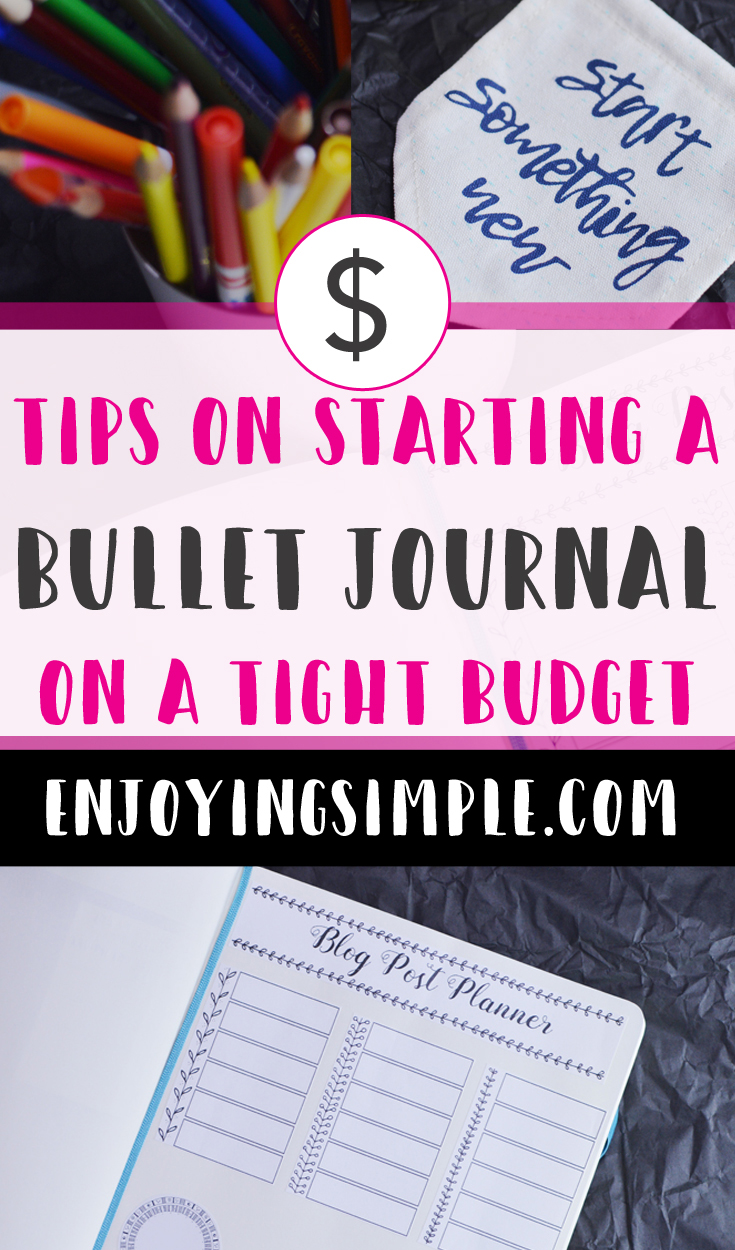 HOW TO START A BULLET JOURNAL ON A BUDGET