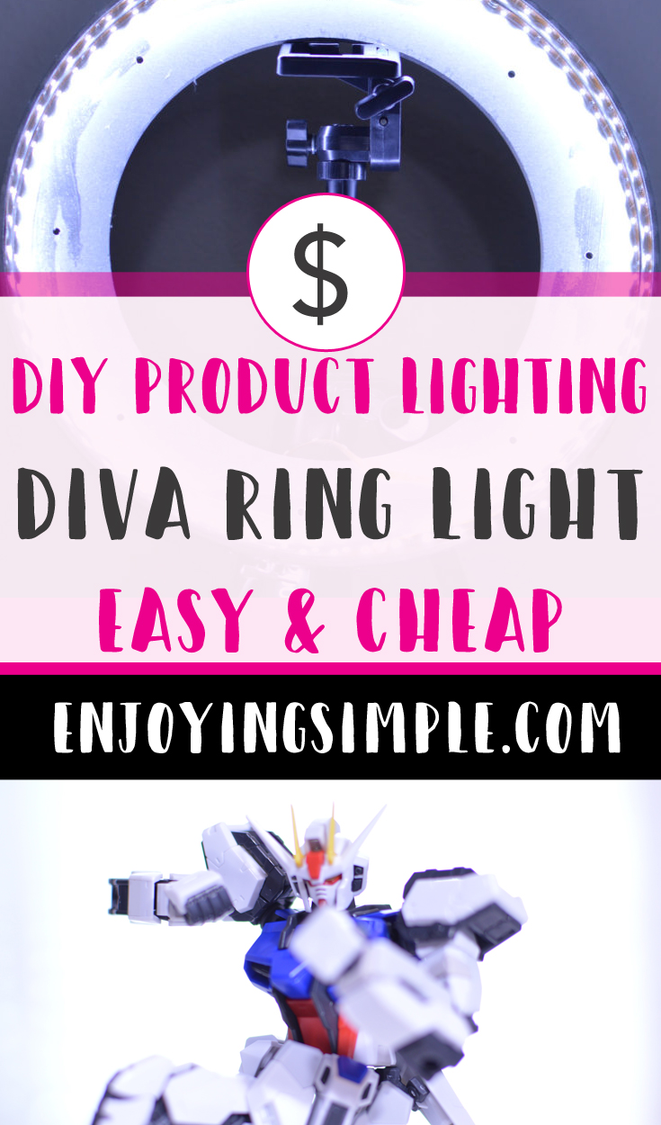 DIY LED RING LIGHT AND MIRROR