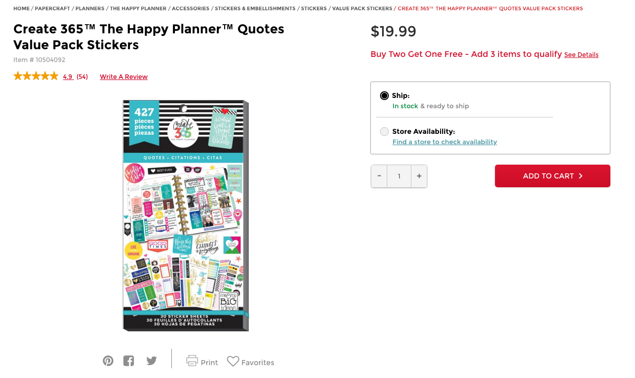 Photo from Michaels. Click to view Sticker Set.