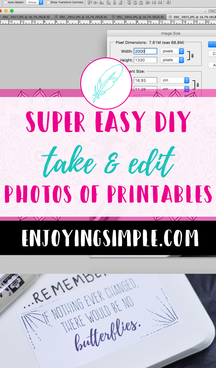 TAKE AND EDIT PICTURES OF PRINTABLES