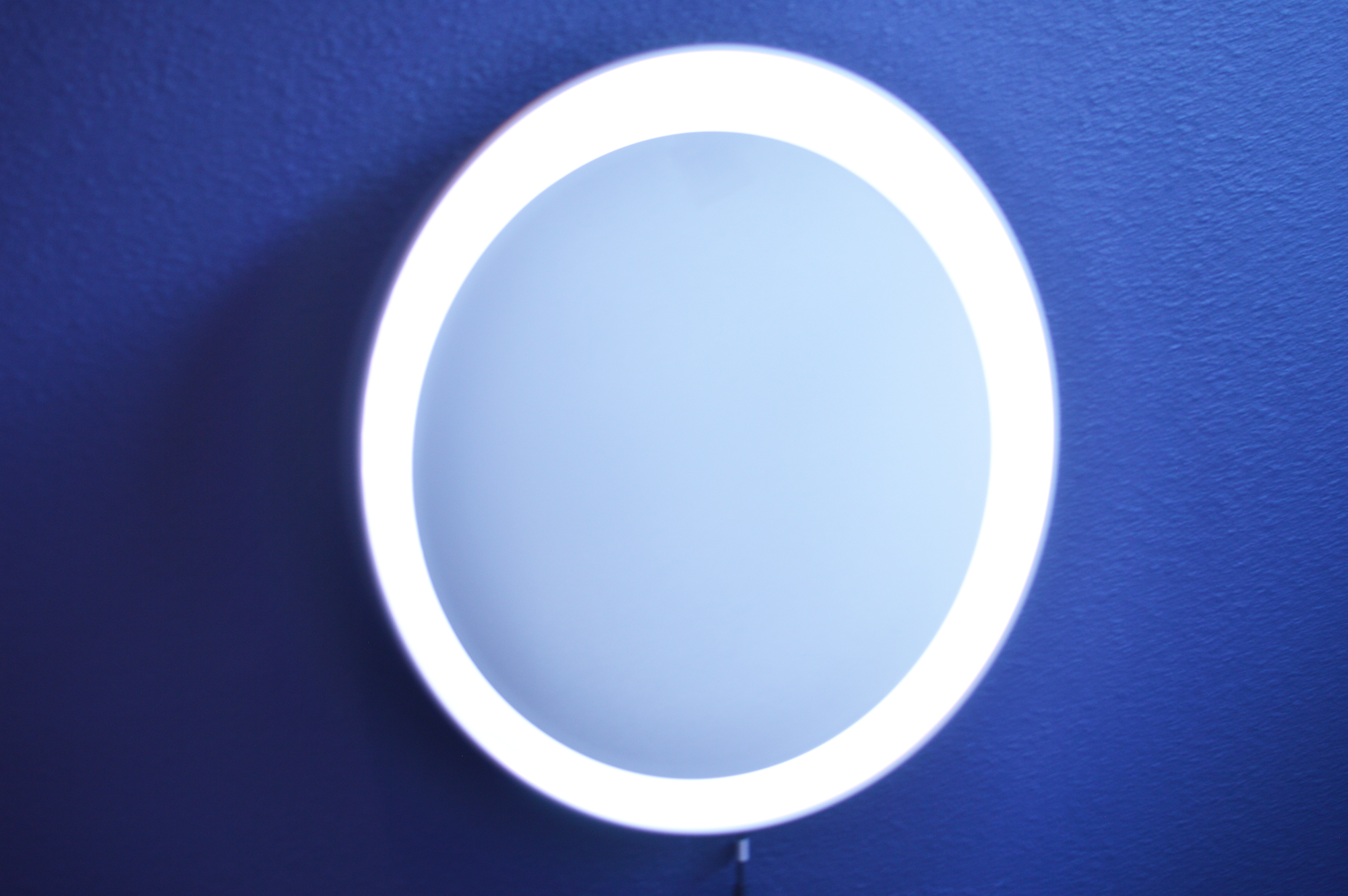 Diy Round Lighted Makeup Mirror