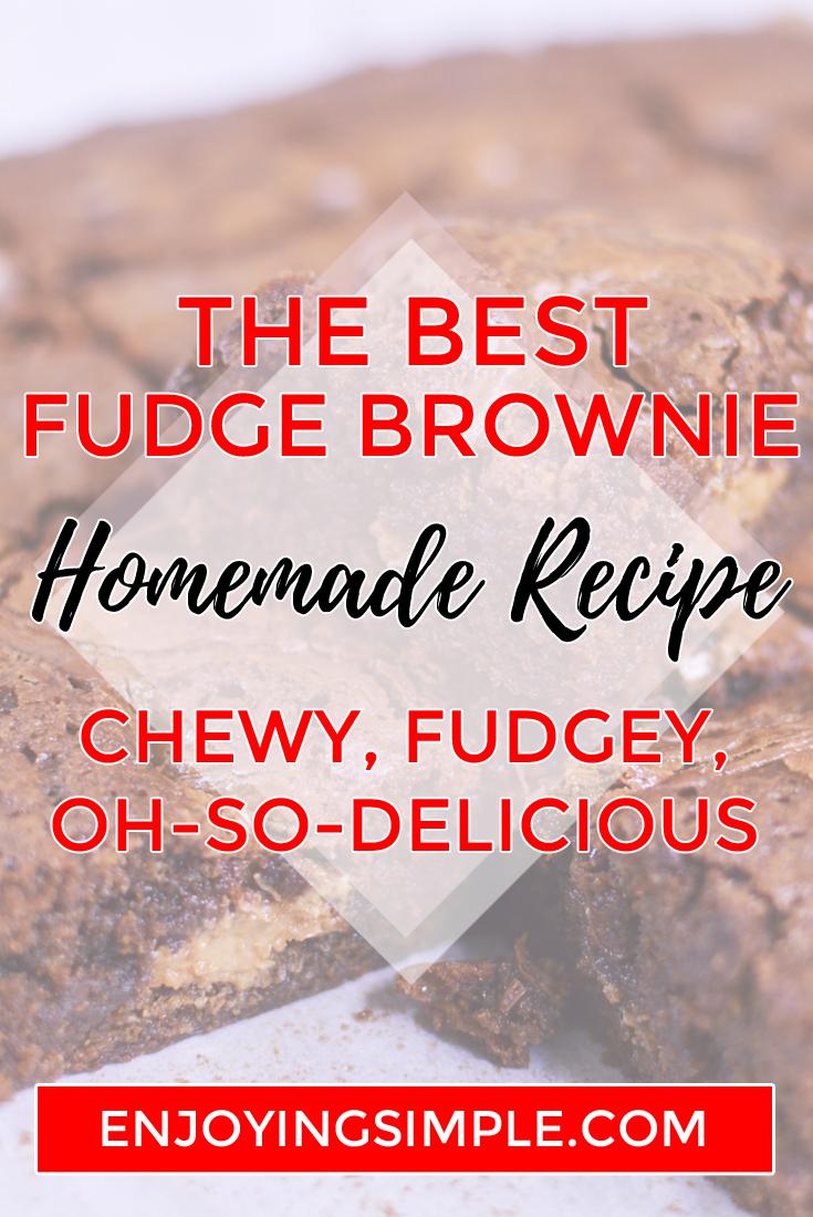 BEST EASY FUDGE BROWNIE RECIPE