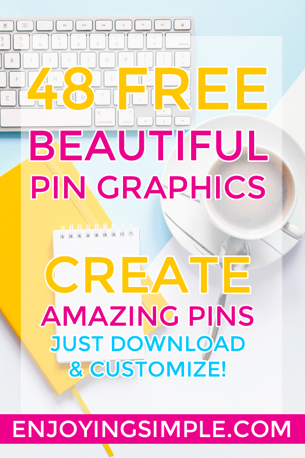 48 Free Graphics: Create Beautiful Pinterest Pin Graphics