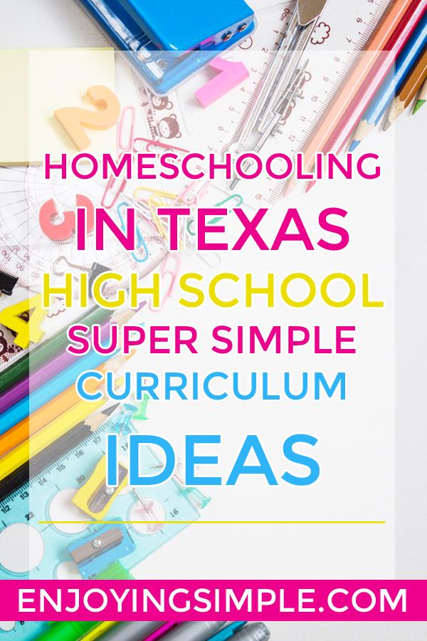 HOMESCHOOL HIGH SCHOOL IN TEXAS