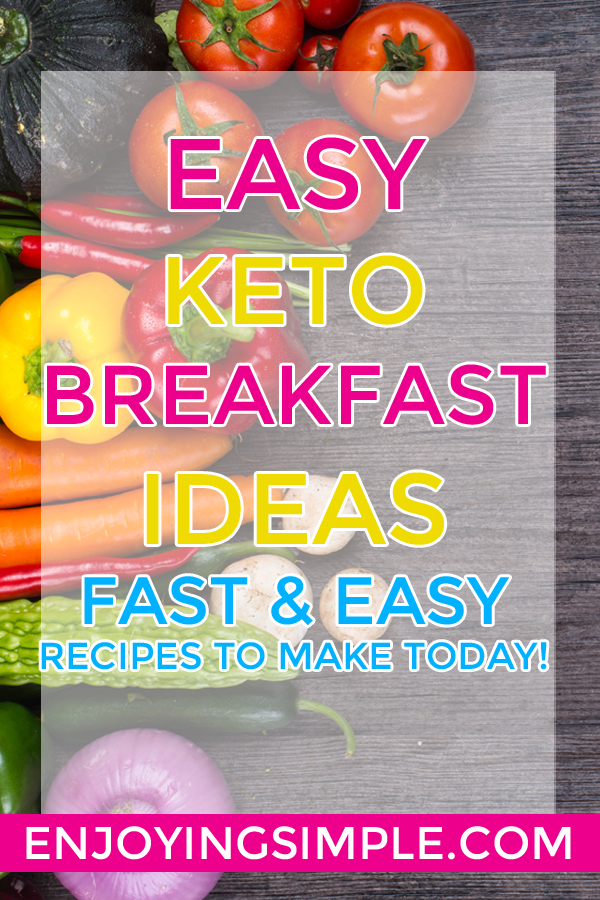 EASY KETO LOW CARB BREAKFAST RECIPES