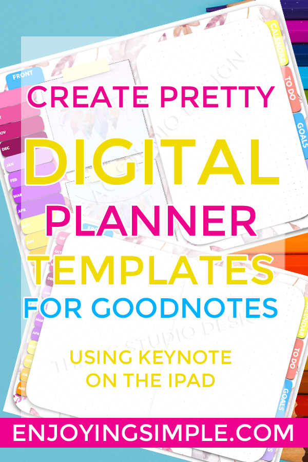 CREATE DIGITAL PLANNER WITH HYPERLINKS ON KEYNOTE