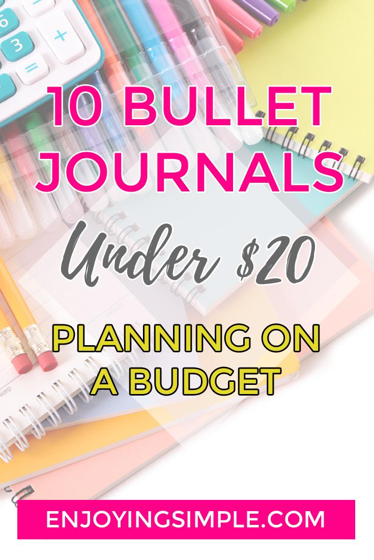 10 Bullet Journal Notebooks Under $20