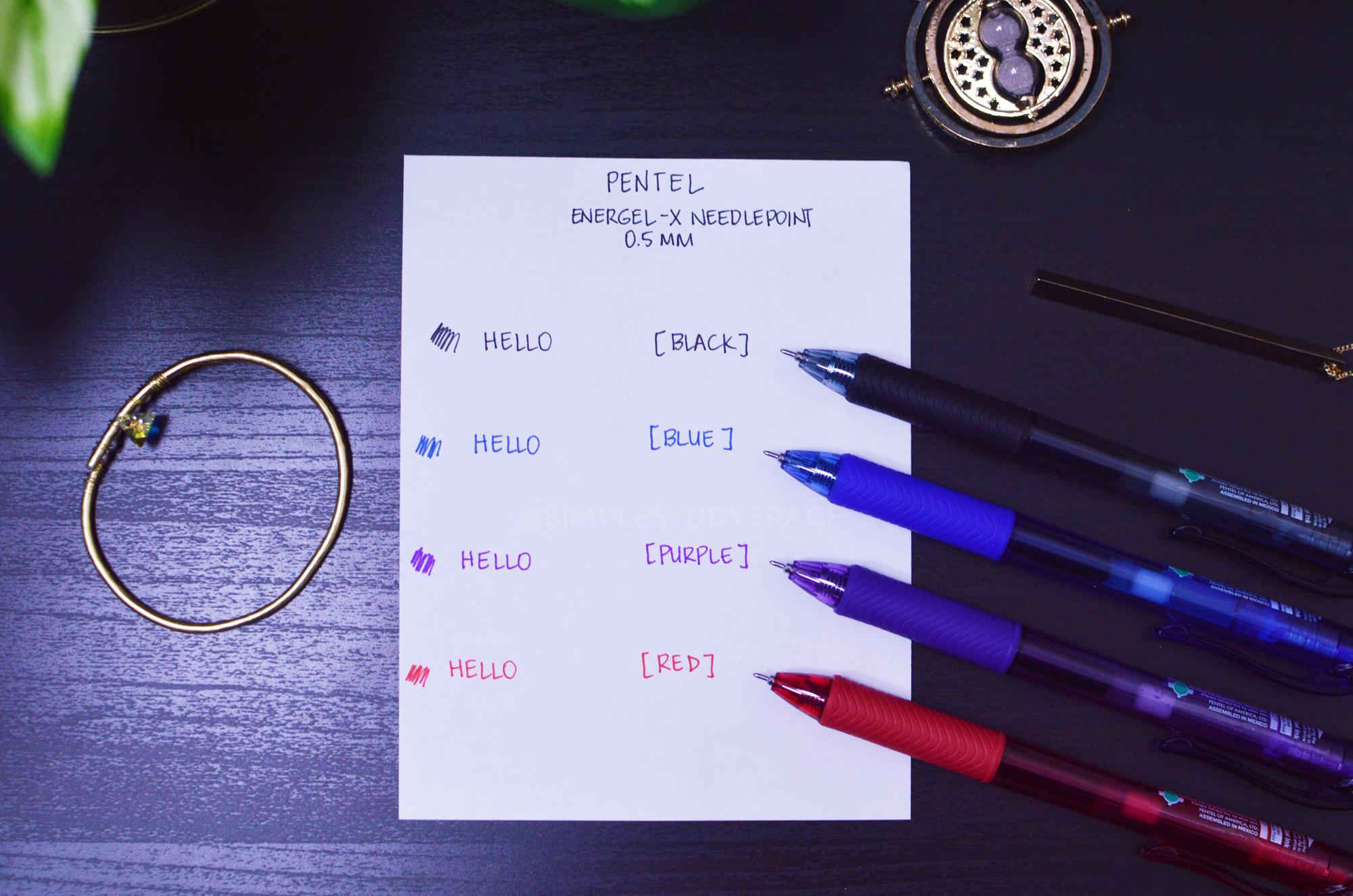 Pen Review: Pentel EnerGel X 0.5 mm Needle-Point