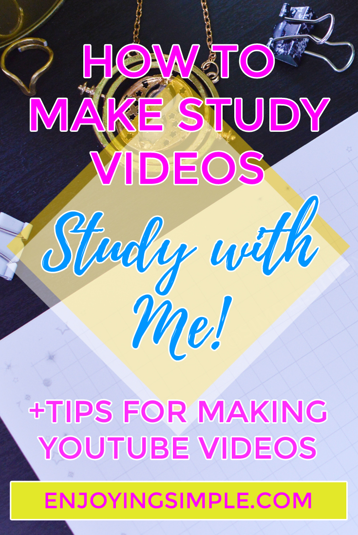 Study With Me Video Library PLUS Tips on Making Study Videos