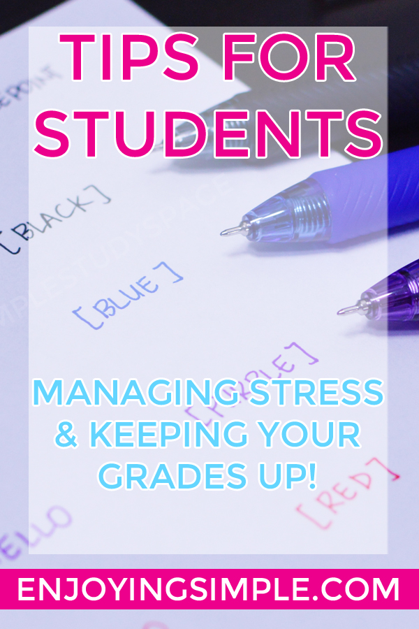 How to Manage Stress in College and Get Straight A's
