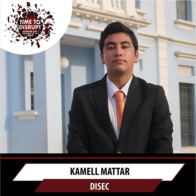 It is our pleasure to announce Kamell Mattar as the president of this year's DISEC committee 🙌🏻Swipe left to see the topics ➡️➡️