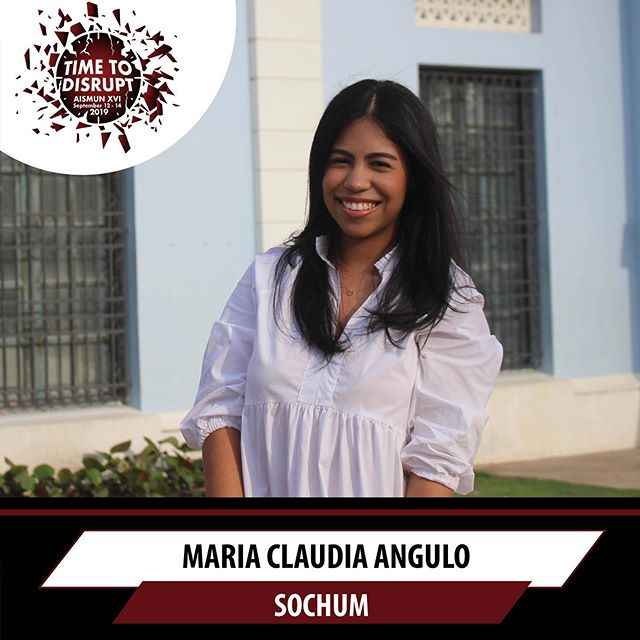 It is our pleasure to announce Maria Claudia Angulo as the president of this year's SOCHUM committee 🙌🏻Swipe left to see the topics ➡️➡️