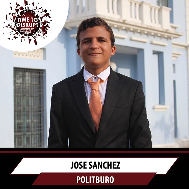 It is our pleasure to announce Jose Sanchez as the president of this year's Politburo committee 🙌🏻Swipe left to see the topics ➡️➡️