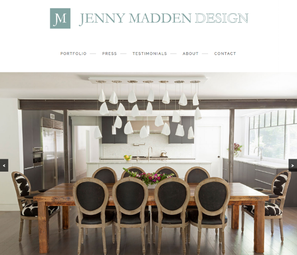 The home page of Dering Hall Member  Jenny Madden Design .