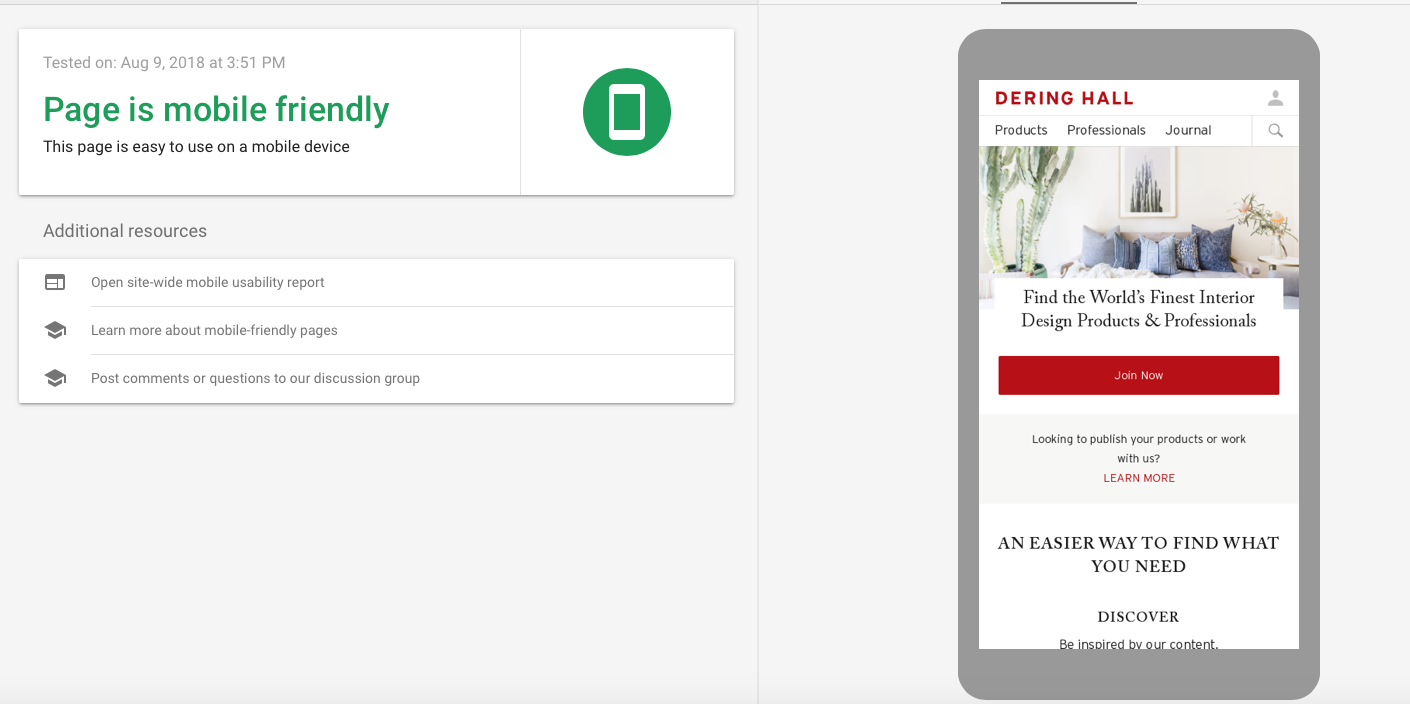 This site offers a report on how mobile-friendly your website is.