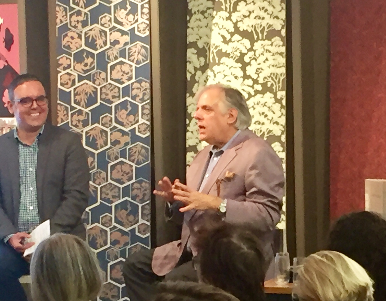Dennis Sarlo and Mark Epstein discussing high-end design
