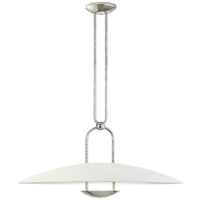 Cara Large Sculpted Pendant in Polished Nickel with Plaster White Shade by Circa Lighting has a list price of $2,309.