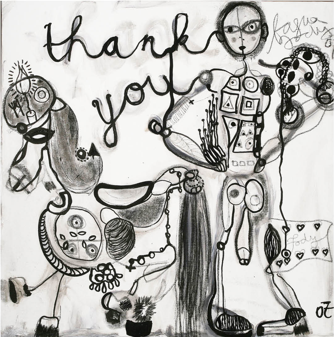 THANK YOU HORSEY - 100X100CM