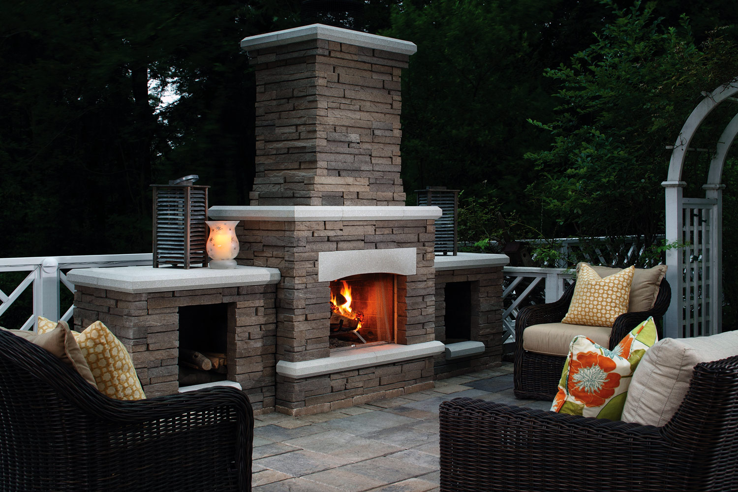 Outdoor Fireplace Installation in Santa Clara County, California