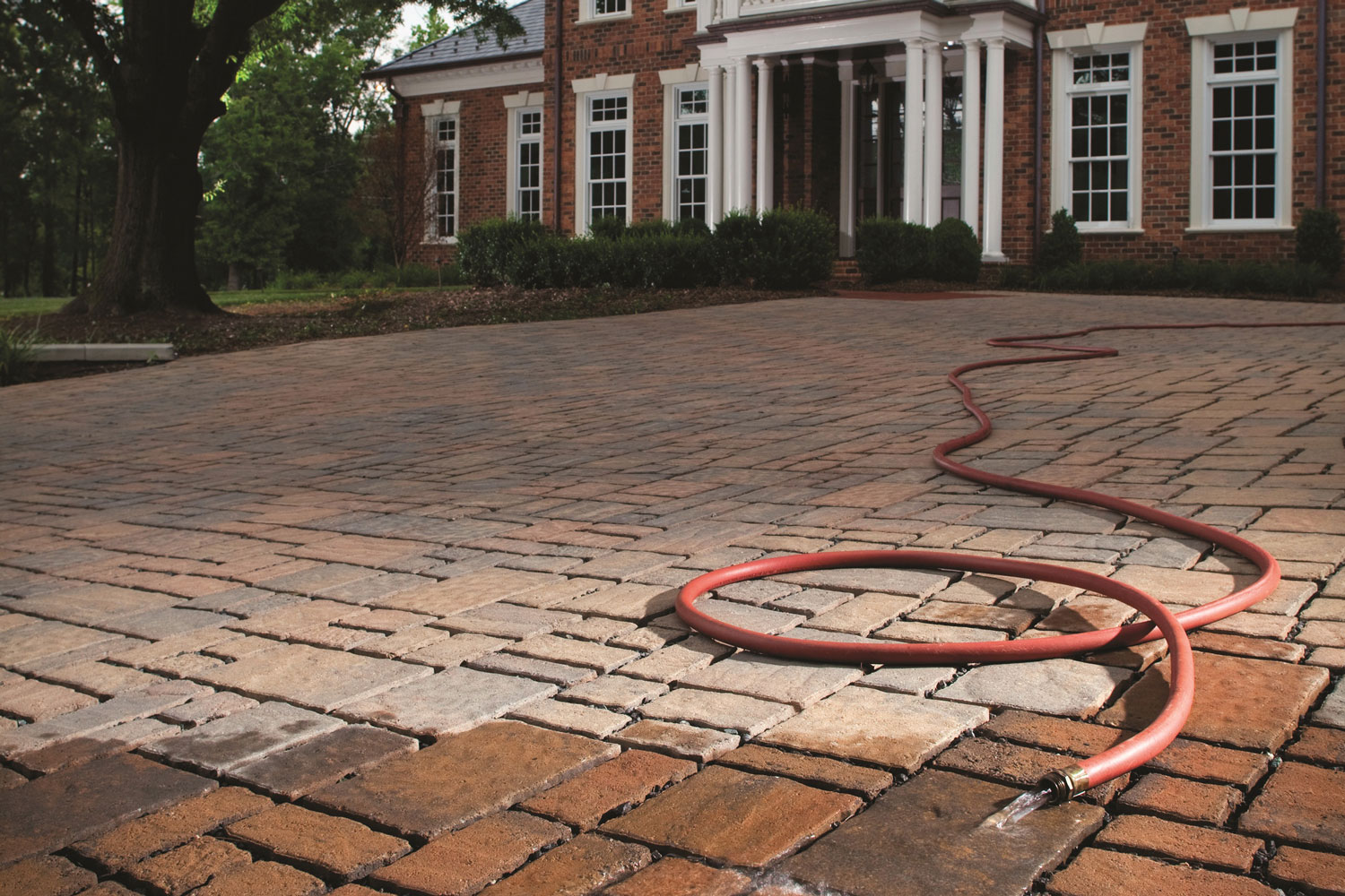 Installation of permeable pavers in subdivisions