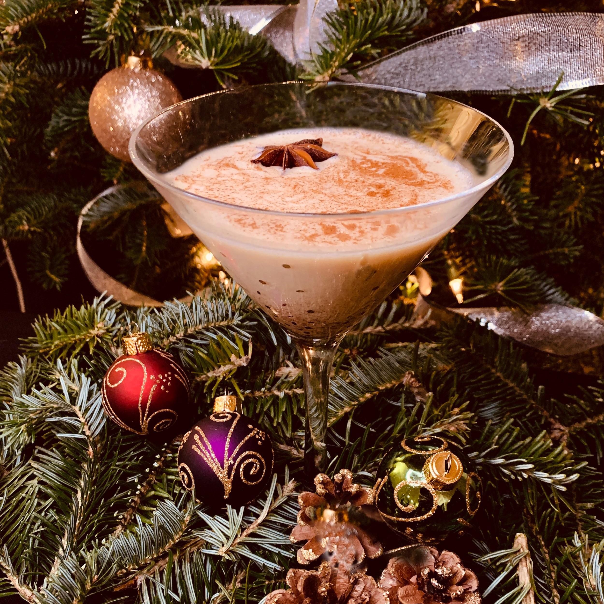 Fig-Nog Martini